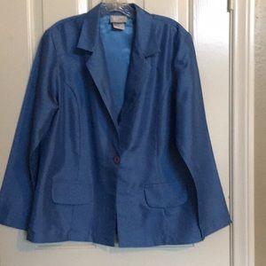 BLAIR blue lined long sleeve jacket
